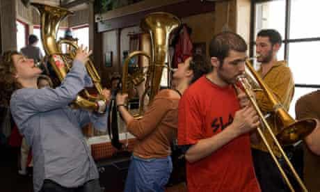 Brass players in Sägewerk, Austria