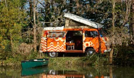 Classic campervan, France