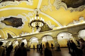 World subways: Komsomolskaya metro station, Moscow