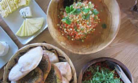 Delicious veggie food at Ecoyoga