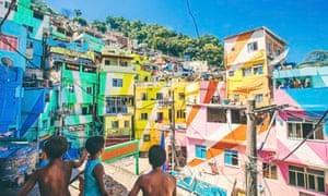 Colourful houses in Santa Marta favela