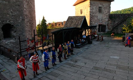 Medieval knights in Visegrad castle. Image shot 2011. Exact date unknown.