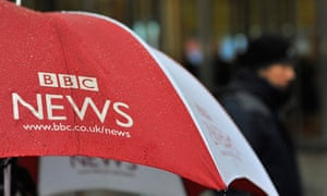 A BBC News umbrella