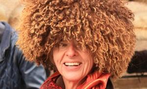 Kate Kellaway in her Turkmen hat