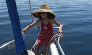 Emily in the San Blas islands, Panama