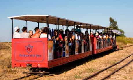 Miniature train to Barril beach