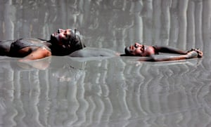 Tourists in the mud bath at Dalyan
