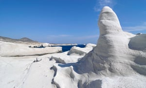 White rock formations, Milo