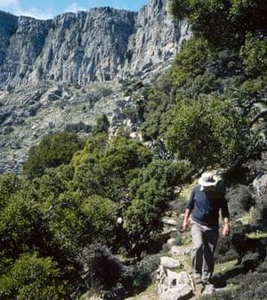 Mountain path on Ikaria island, Greece