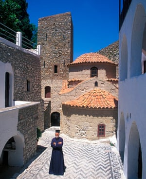 Monastery on Tilos island