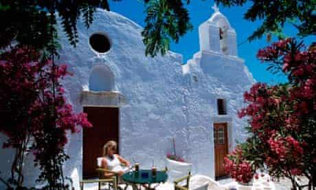 Traditional houses on Amorgos, Greece