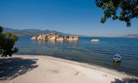 Byzantine ruins in Bafa lake