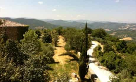 View from the Monestevole farm, Umbria