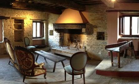 Inside the Monestevole farmhouse