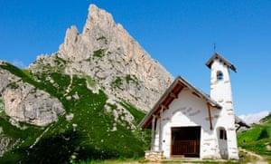 Chapel at Falzarego Pass, Italy
