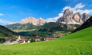 Corvara village, Alto Adige, Italy