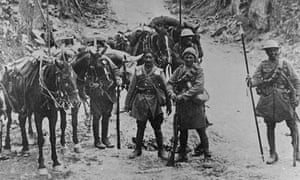 Indian  troops during the first world war.
