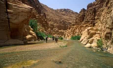 Malaqi Trail, Wadi Mujib, Jordan.