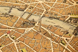 Close-up of London map by Wellingtons Travel