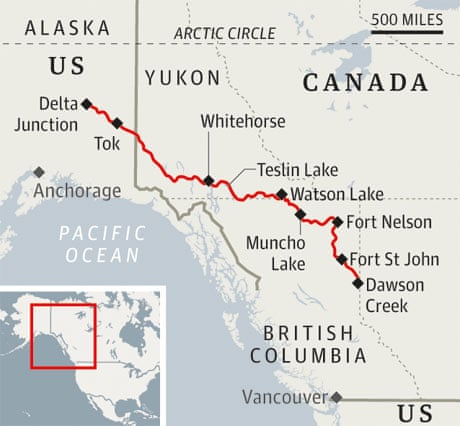 The Alaska Highway Road Trip Through The Wilds Travel The - Us canada road map