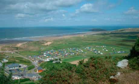Hillend campsite, Gower