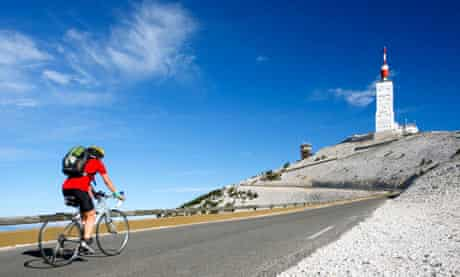 The climb up Mont Ventoux, Provence