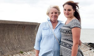 Zoe Witherington with foster mother Lynette Grimwood