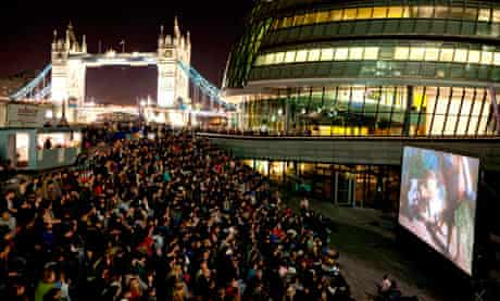 Film screening at The Scoop, City Hall, London