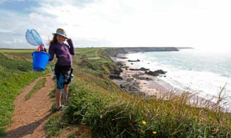 Maddy above Marloes beach