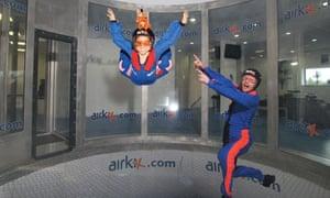 Indoor skydiving at airkix
