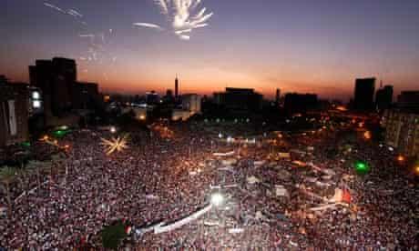 Anti-Morsi protesters in Tahrir square