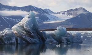Arctic Glacier Ice Melting