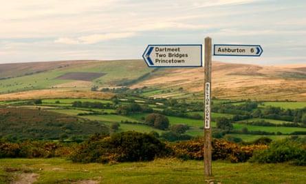 Dartmoor between Princetown and Ashburton
