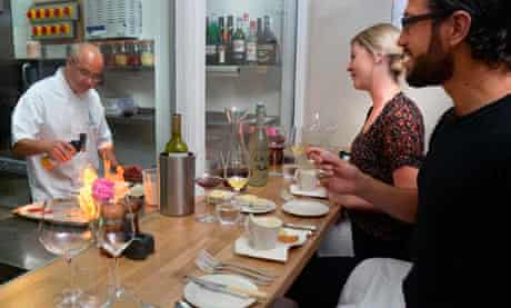 Chef's table at Kinlock Lodge