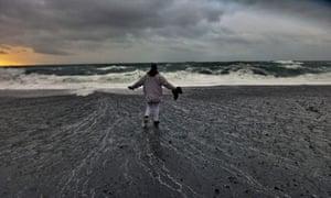 Black sand on Snaefellsnes beach