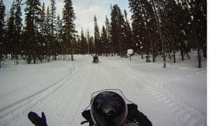 A snowmobile trip