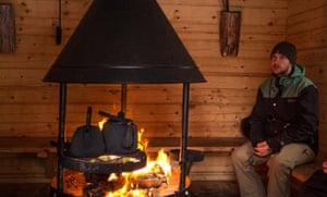inside a remote log cabin