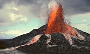 Pu'u O'o volcano eruption