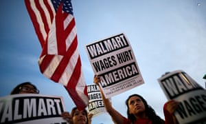 Protest for better wages outside Walmart in LA