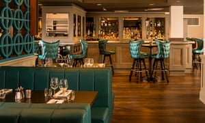 The bar and restaurant at West Park Hotel, Harrogate