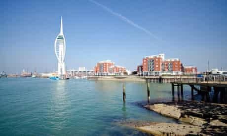 Portsmouth Harbour with Spinnaker Tower
