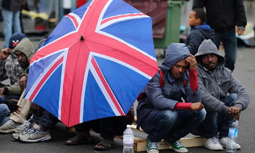 Eritrean migrants in Calais