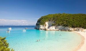 Vrika Bay, Antipaxos, Ionian Islands.