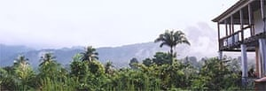 sao tome rainforest and hut