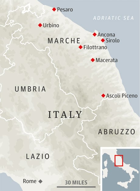 How To Do Le Marche Italy On A Budget Travel The Guardian - Map of ancona italy