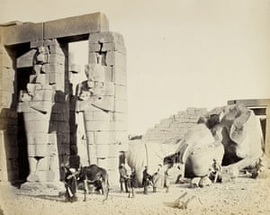 19th-century travel: The Ramesseum of El-Kurneh, Thebes, 1857