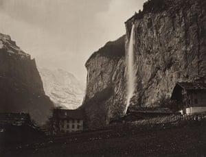 19th-century travel: The Staubbach Falls, Switzerland, c. 1866