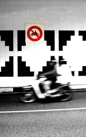 Been there photo comp Nov: Motorcyclist by sign