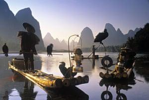 Decade destinations: Cormorant fishermen, Li River, Yangshuo, Guangxi, China