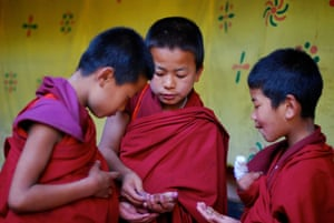 been there: Young monks and chocolate